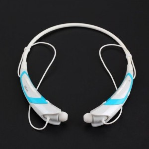 EastVita Sport Wireless Bluetooth 4.0 Headset Headphone Stereo Earphone for iPhone Samsung LG HTC Tablet laptop Color White/Blue