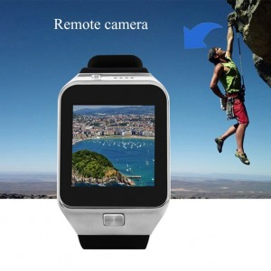 EastVita GV09 Bluetooth Smart Watch Phone for Android & iOS Support SIM/TF Card(Silver)
