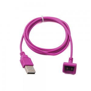 New Hot Magnetic USB Charging Charger Cable For Jawbone 2/3 Prime Headset (Purple)