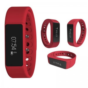 EastVita I5 Plus Bluetooth Sports Wrist Band Smart Bracelet Watch For Android IOS(Rose Red)