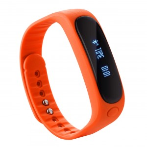EastVita E02 Bluetooth Smart Wrist Band Bracelet Watch Fitness Tracker for Android IOS(Orange)