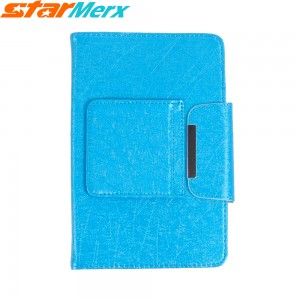 7 inch/8 inch Keyboard Case Holster with lines; Color: Blue