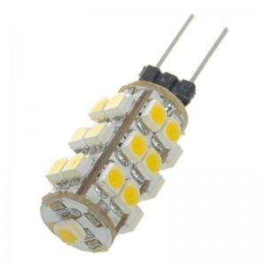 G4 1.2W 110-Lumen 3500K 25-SMD LED Car Warm White Light Bulb (DC 12V)