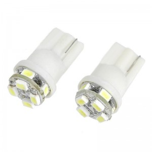 0.4W T10 1210 8-LED Vehicle Decoration/Signal White Lamp Bulbs (DC 12V/2-Pack)