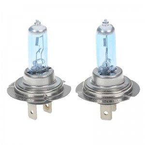 H7 55W 6500K Car White Light Bulbs (Pair/DC 12V)