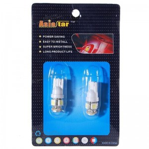 T10 0.75W 5-LED Vehicle Signal Lamp Bulbs (12V White / Pair)