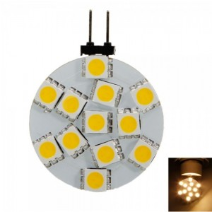 G4 1.8W SMD5050 12LED Warm White Corn Lamp Bulb (12V)