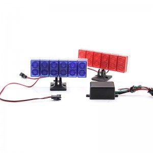 Police Style 12-LED Vehicle Red/Blue Waterproof Strobe Lights (Pair)
