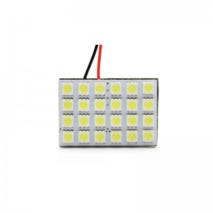 4.8W 280LM 5500-6500K Neutral White 5050 24-SMD Car LED Dome Light