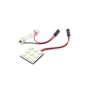 T10 / BA9S / Festoon 1.8W 135-Lumen 9-SMD 5050 LED Normal White Car Reading Lamp