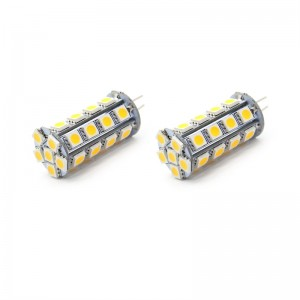 5050Y G4 5W 30*5050 SMD 480-Lumen 2700-3000K Warm White LED Light Bulb (2-Pack)