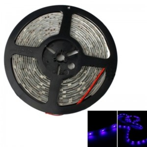 20W SMD5050 5m 150LEDs Blue Light Epoxy Waterproof LED Light Strip (White Lamp Plate) (12V)