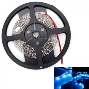 12W SMD3528 5m 150LEDs Blue Light LED Light Strip (White Lamp Plate) (12V)