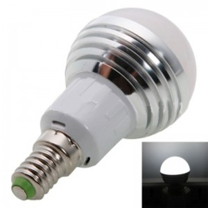 E14 3W 240-270LM 5700-6500K White LED Light Bulb (85-265V)