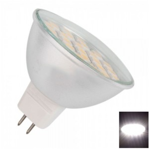 MR16 5W 27 LED 500LM 6000-6500K White Light LED Spotlight Bulb Silver (85-265V)
