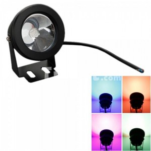 IP65 10W Coated Glass Lens Integrated Bulb RGB Underwater Light (12V)