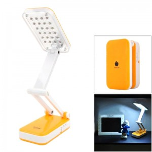 DP LED-666 iPhone Style Foldable 2W 120lm 6000K 24-SMD LED White Light Table Lamp - Orange