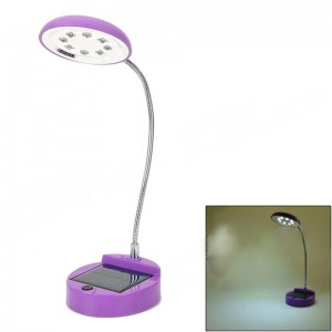 XSK-L02 2-Mode 0.5W 200lm 2500K 8-LED Warm White Light Solar Lamp - Purple