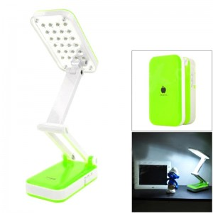 DP LED-666 iPhone Style Foldable 2W 120lm 6000K 24-SMD LED White Light Table Lamp - Green