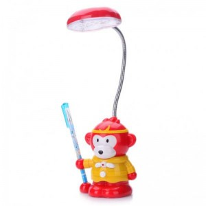 Cute Monkey King Style Rechargeable Flexible 2-Mode White 18-LED Desk Light Table Lamp (Yellow)