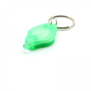 22000mcd White Light LED Flashlight Keychains - Green (10-Pack)