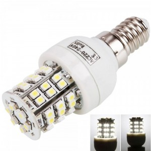 E14 3W 48 LED SMD3528 6000K White Corn Light Lamp (220V)
