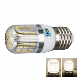 E27 5W 400 Lumen 3000K Warm White Light Corn Light with Silver Side Stripes Cover (110V