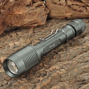 Cree XM-L T6 700LM 5-Mode White LED Zoom Flashlight (2 x 18650)