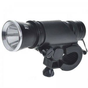 3W 60-Lumen 2-Mode Front White Light with Mount for Bike - Black + Silver (3*AAA)