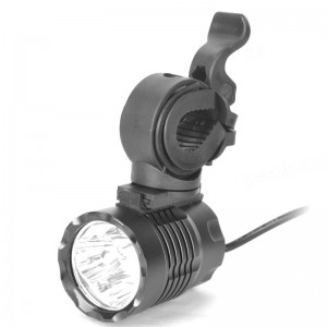 CREE XPG R5 1000LM 3-LED 3-Mode White Bike Light with Mount Bracket and Battery Pack (4 x 18650)