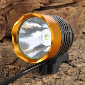 SingFire SF-90 Cree XM-L T6 1000lm 4-Mode White Bicycle Headlamp - Golden + Deep Grey (4 x 18650)