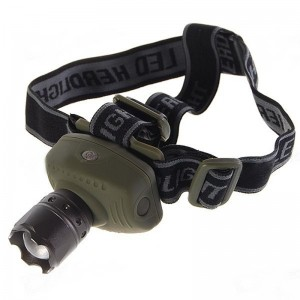 Flood-to-Throw Zooming Cree P4-WC 3-Mode LED Headlamp (3*AAA)
