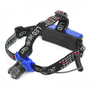 Cree Q5 310-Lumen 3-Mode White Zoom LED Headlamp - Black + Blue (3 x AAA / 1 x 18650)
