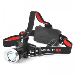 Raysoon T6-1 Cree XM-L T6 900lm 3-Mode White Light Headlamp - Black + Silver (1 x 18650 / 3 x AAA)
