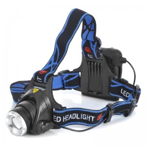 YP-3005 Cree XM-L T6 450lm 3-Mode White Zooming Headlamp - Black (4 x AA)
