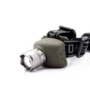Flood-to-Throw Zooming Cree P4-WC 3-Mode LED Headlamp