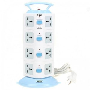 Handheld Vertical Stand Universal 4x4 Power Sockets (3-Flat-Pin Plug /250V)