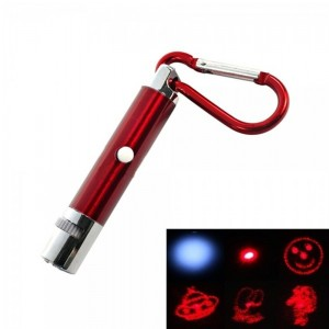 5 in 1 5mW 650nm Red Laser Pointer Keychain Red (3*LR189)