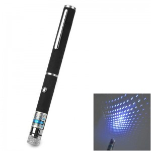 Dot + Gypsophila 405nm 5mW Blue-violet Laser Pointer Pen - Black (2 x AAA)