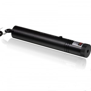 SD-302 5mW 650nm Red Laser Pointer Flashlight - Black (1 x 18650)