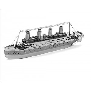The Titanic 3D puzzle DIY nano metal micro stereo sculpture without glue