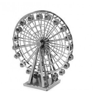 Metallic Nano 3D DIY Ferris Wheel Jigsaw Puzzle Model