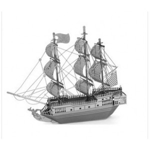 3D puzzle -DIY nano metallic micro stereo sculpture pirate ship without glue