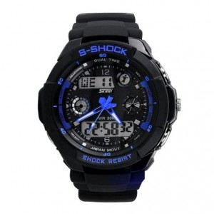 Multi Function Military S-shock Sports Watch LED Analog Digital Waterproof Alarm