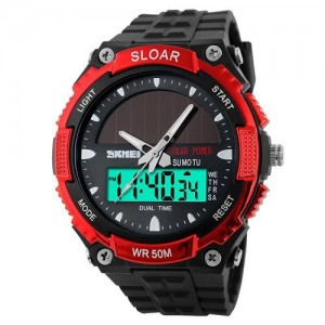 LanLan Fashion Electronic Double Display Waterproof Outdoor Sports Watch