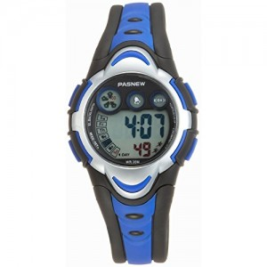 Pasnew LED Waterproof Sports Digital Watch for Children Girls Boys (Blue) Pse-276blue