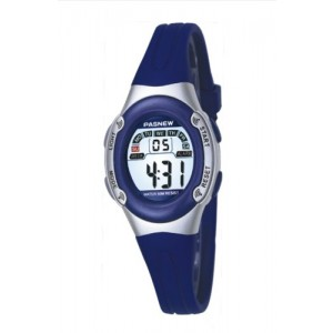 Pasnew Highquality Water-proof Children Girls Sport Watch (Blue)