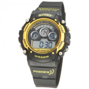 Fashion Digital Waterproof Sport Wrist Watches for Boys Girls (Yellow)