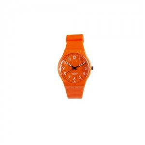 PASNEW Fashion Colorful Candy 30M Water-proof 8-18 Years Students Teens Boys Girls Retro Sport WristWatch 401B N7 Orange Color