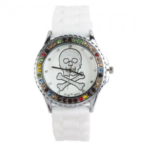 YESURPRISE Classic Trendy Crystal Rubber Jelly Silicone Lady Girls Casual White